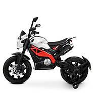Мотоцикл детский M 4267EL-1-3 белый с красным Гарантия качества Быстрая доставка, фото 3