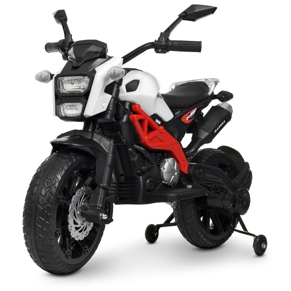 Мотоцикл детский M 4267EL-1-3 белый с красным Гарантия качества Быстрая доставка