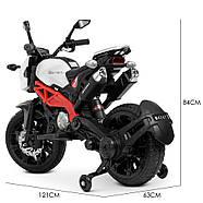 Мотоцикл детский M 4267EL-1-3 белый с красным Гарантия качества Быстрая доставка, фото 4