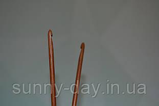 Крючок для вязания бамбуковый, №4