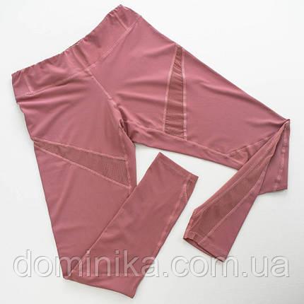Спортивный костюм для тренировок, розовый топ с лосинами для спорта, размер 44-46, фото 2