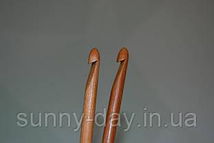 Крючок для вязания бамбуковый, №6