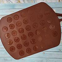 Силиконовый коврик для выпечки Макаронс (Macarons) Двухсторонний