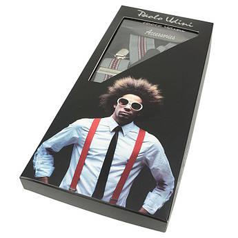 Мужские комбинированные подтяжки в подарочной упаковке 0160 С