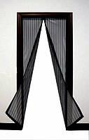 Штори,фіранки Magic mesh Антимоскітна сітка на магнітах 210*100 см синя,червона,зелена і жовта,чорна