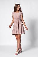 Повседневное бежевое платье для девушек А-силуэта 42,44,46,48