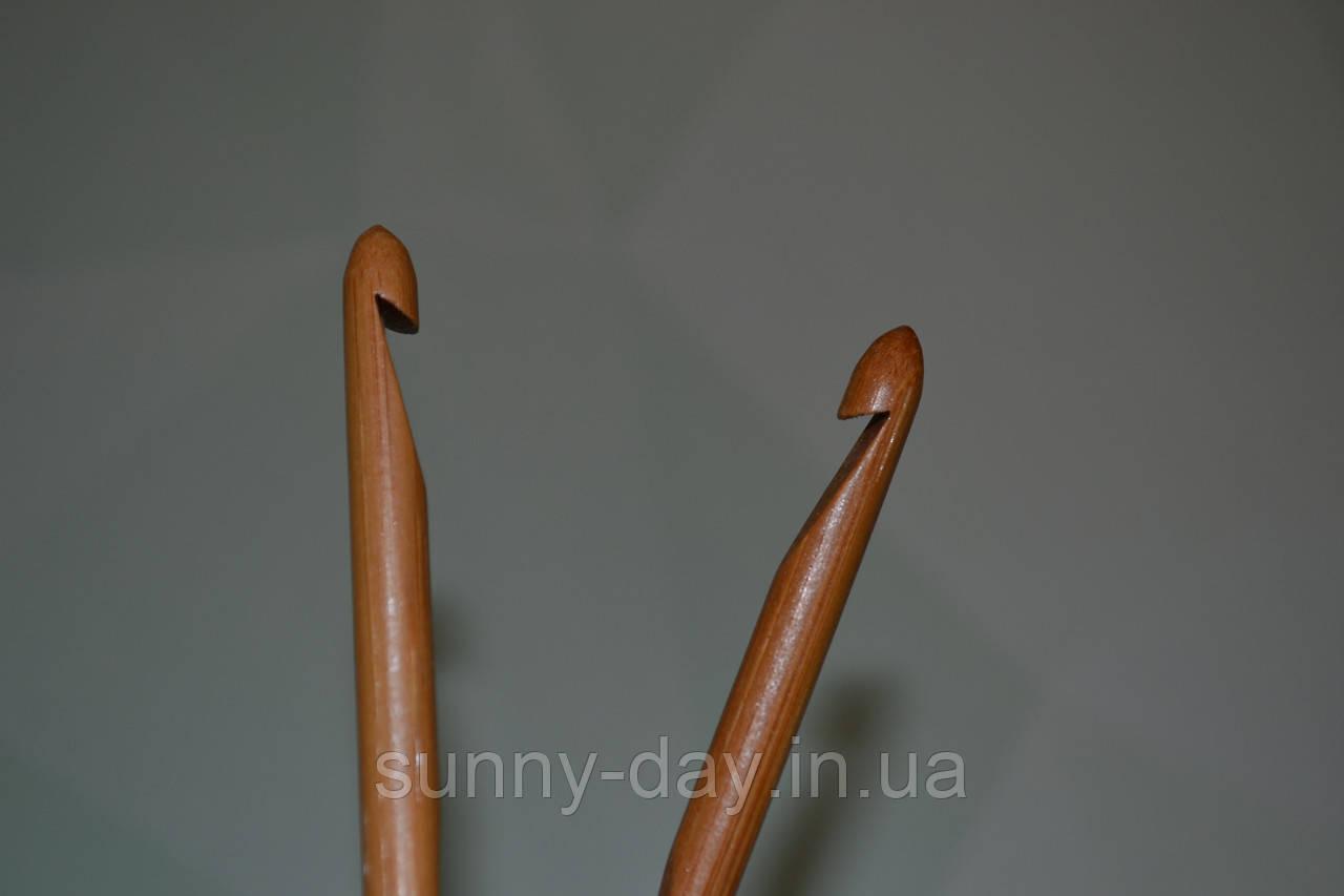Крючок для вязания бамбуковый, №7