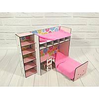 Набор игровой мебели спальный уголок для барби 6103