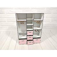Набор игровой мебели Шкаф для Барби большой с плечиками 6102