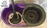 Швабра полотер + ведро с центрифугой для самоотжима Zambak