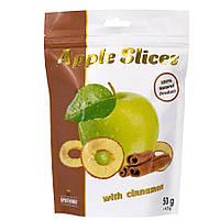 Слайсы яблочные сушеные с корицей, 50 г, ТМ СПЕКТРУМИКС