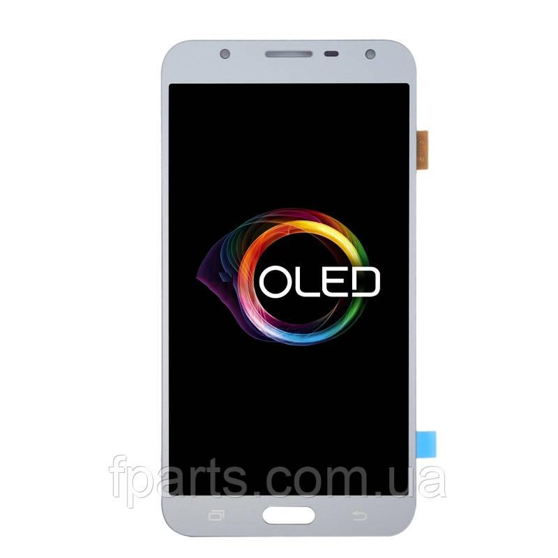 Дисплей для Samsung J701 Galaxy J7 Neo с тачскрином, Silver (OLED)