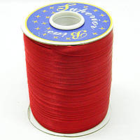 Косая бейка Super 3134 атласная 1.5 см х 100 м Красная Bios-3134, КОД: 1314931