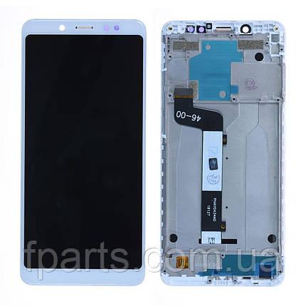 Дисплей для Xiaomi Redmi Note 5, Redmi Note 5 Pro с тачскрином, в рамке, White, фото 2