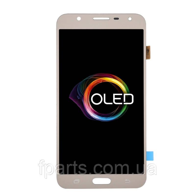 Дисплей Samsung J701 Galaxy J7 Neo з тачскріном, Gold (OLED)