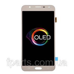 Дисплей Samsung J701 Galaxy J7 Neo з тачскріном, Gold (OLED), фото 2