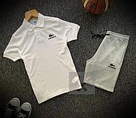 Мужской спортивный костюм (Летний мужской спортивный костюм футболка+шорты Lacoste)