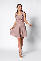 Пастельное пудровое женское платье А-силуэта 42, 44, 46, 48