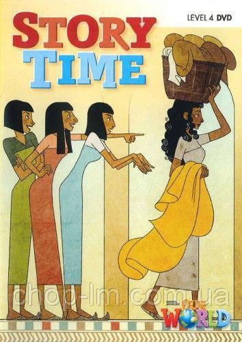 Our World 4 Story Time DVD. Диск с видео-историями для детей / National Geographic Learning