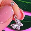 Серебряная серьга для пирсинга пупка - Серебряный пирсинг в пупок Бабочка, фото 2