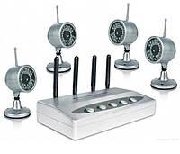 Комплект видеонаблюдения беспроводной на 4 камеры Hamy SC-39, аналоговый, дальность передачи до 80 метров