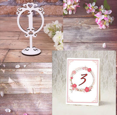Номерок на свадебный стол