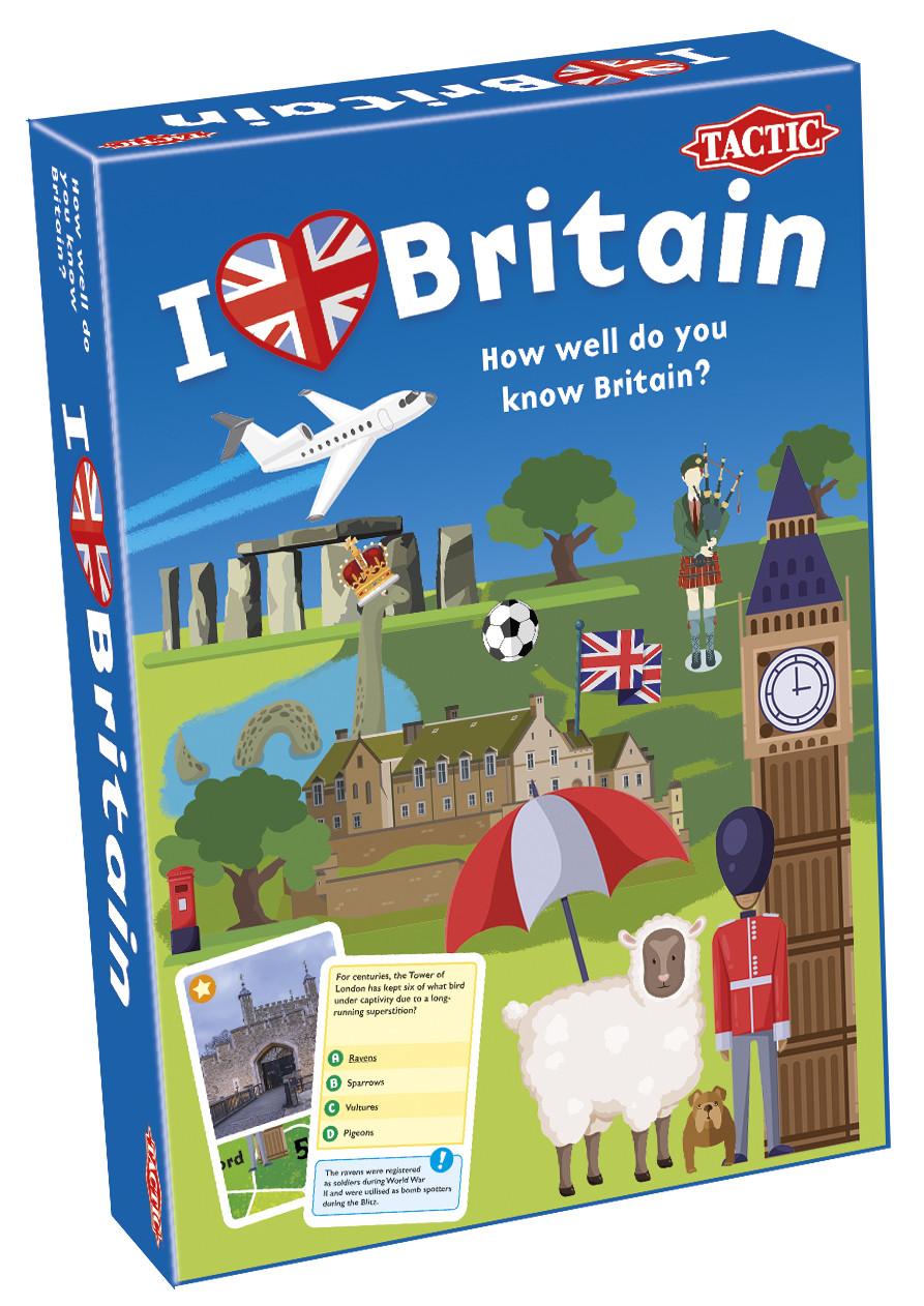 Настольная игра Tactic Я люблю Британию (англ) (56427)