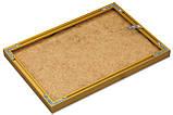 Рамка для фото 15х21 А5 из алюминия - Золото матовое 6 мм - со стеклом, фото 3