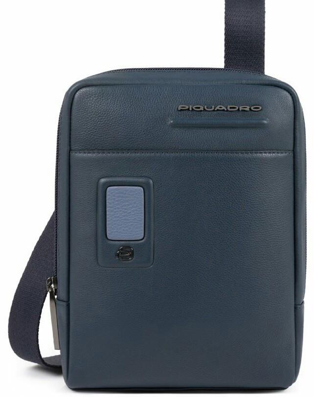 Мужская сумка из натуральной кожи Piquadro Akron синяя