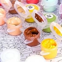 Картина на холсте по номерам Lesko Париж E-190 Цветочный магазин 40-50см набор для творчества живопись, фото 4
