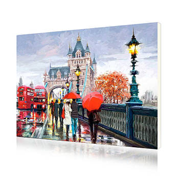 Картина по номерам Lesko E-587 «Тауэрский мост» 40-50см набор для творчества живопись
