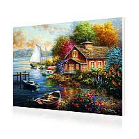 """Картина по номерам Lesko RSB-8184 """"Дом у моря"""" 40-50см набор для творчества живопись"""