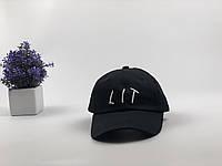 Кепка бейсболка LIT (черная)