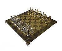 Шахматы подарочные 54х54 см вес 9,8 кг в деревянном футляре коричневые BST 670424