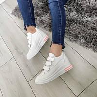 Кросівки жіночі білі екошкіра, фото 1