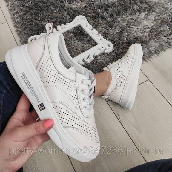 Кросівки білі жіночі натуральні шкіряні 39