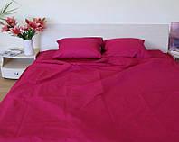 Комплект постельного белья полуторный Бязь GOLD 100% хлопок Малиновый