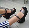 Босоніжки шкіряні жіночі бронзові на платформі 40р, фото 3