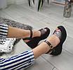 Босоніжки шкіряні жіночі бронзові на платформі 40р, фото 5