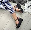 Босоніжки шкіряні жіночі бронзові на платформі 40р, фото 7