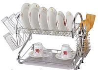 Сушилка для посуды A-PLUS 45см * 24см *39см (2 яруса) 1198