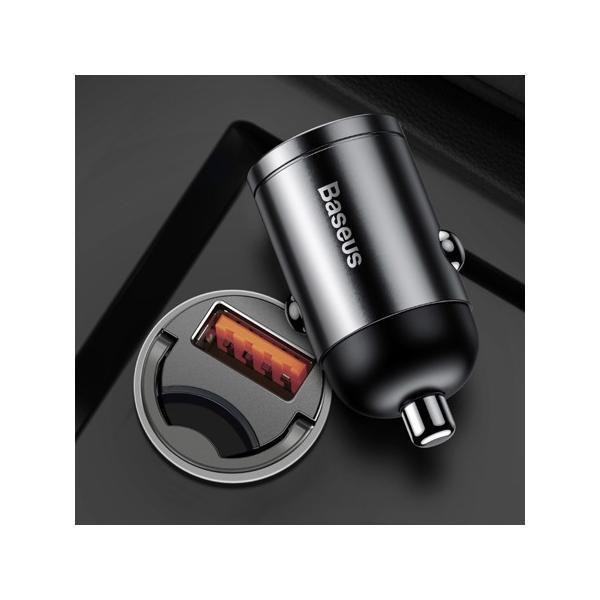 Автомобильное зарядное устройство Baseus Tiny Star Mini Quick Charge Car USB Port 30W (Gray) (VCHX-A0G)