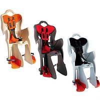 Детское велокресло Bellelli B-One Сlamp серо-красное на багажник