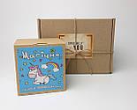 """Печенье """"Магическое"""" с предсказаниями в праздничной упаковке - Печенье с единорогом подарок на день рождение, фото 3"""
