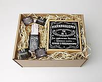 """Набор для мужчины """"Jack Daniel's"""" (Джек Дениелс): мини-виски, мини-шоколадки, печенье с пожеланиями"""