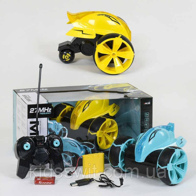 Машина-перевертыш на радиоуправлении, трюковая, подсветка, аккумулятор 4.8V, 2 цвета, 5588-612