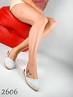 Женские балетки белые натуральная кожа, мокасины женские 37,38,40 размер