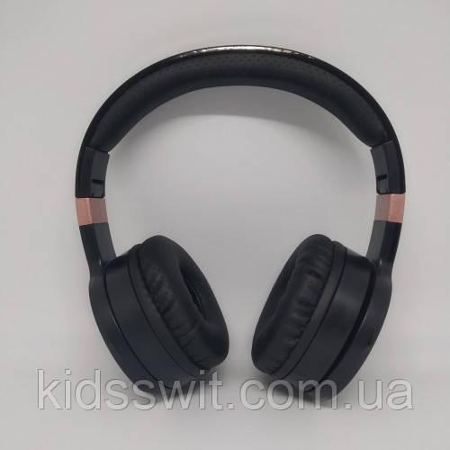 Бездротові Bluetooth Стерео навушники Gorsun GS-E88A Чорні з золотим