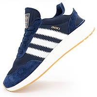 Adidas Iniki Runner ( мужские беговые кроссовки Адидас Иники сине-белые )