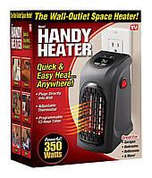 Портативный керамический тепловентилятор Handy Heater, Комнатный обогреватель в розетку, Скидки h